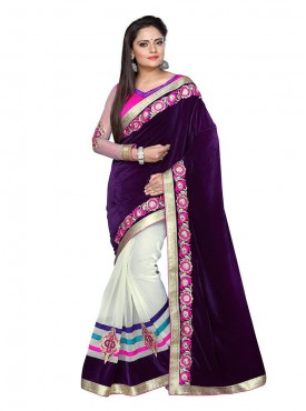 Tulsi Mantra Heavy Velvet Super Net Saree