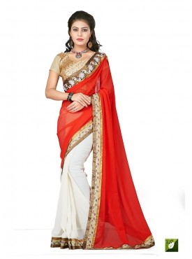 Tulsi Mantra Georgette Saree