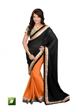 Tulsi Mantra Georgette Cotton Silk Saree