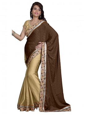 Tulsi Mantra Satin Shiffon Saree