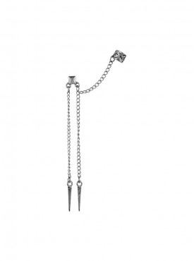 Fayon Chic Stylish Silver Tassels with Spikes Ear cuff