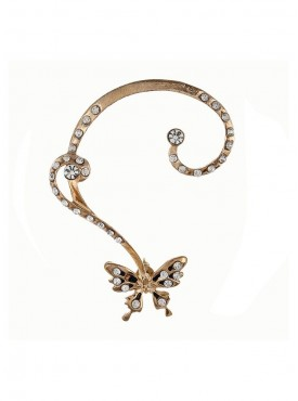 Fayon Trendy Costume Golden Butterfly Ear cuff with Earring