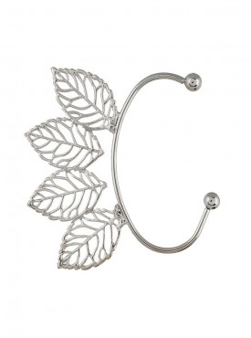 Fayon Weekend Casual Four Silver Leaves Ear cuff for Single ear