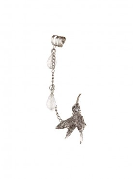 Fayon Weekend Party Crystal Bird with Crystal Drops Ear cuff for Single ear