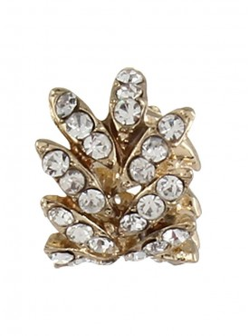 Fayon Daily Casual Work Golden Rhinestone Leaves Ear cuff For Single Ear
