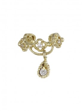 Fayon Fabulous Statement Traditional Golden Ear cuff For Single Ear