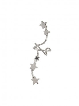 Fayon Weekend Party Silver Stars Constellation Ear cuff For Single Ear