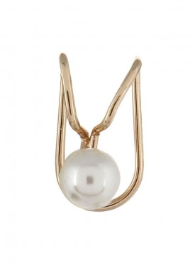 Fayon Fashion Statement Single Pearl Golden Ear cuff For Single Ear