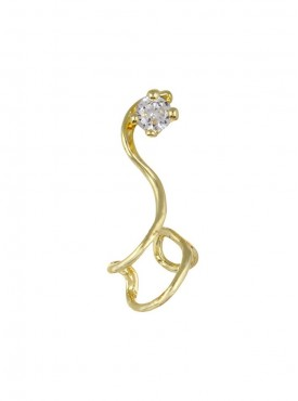 Fayon Funky Fashion Golden S Coil With Rhinestone Ear cuff For Single Ear