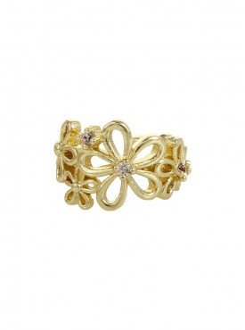 Fayon Chic Stylish Golden Flower Carved  Ear cuff For Single Ear
