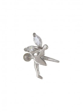 Fayon Chic Stylish Silver Dancing Girl Ear band For Single Ear