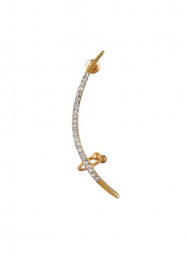 Fayon Funky Fashion Golden Half Moon Double Ear cuff