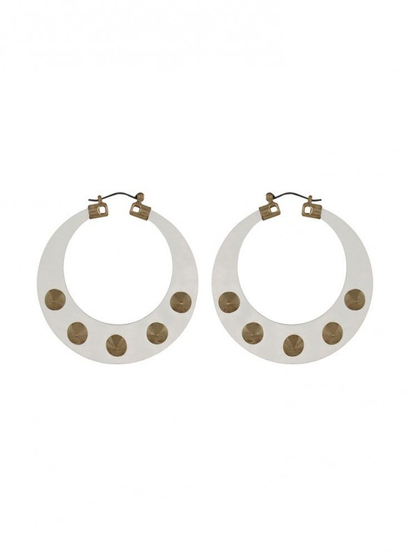 Fayon Trendy Costume White Clear Plastic Punk Style Drop Earrings