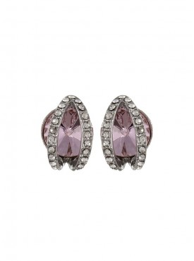 Fayon Daily Casual Work Pink Rhinestone Stud Earring