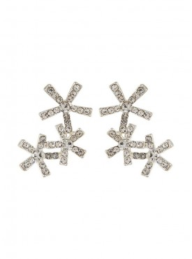 Fayon Daily Casual Work Trio Flower Cluster Earrings