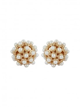 Fayon Fashion Statement Tiny Pearl Stud Earrings