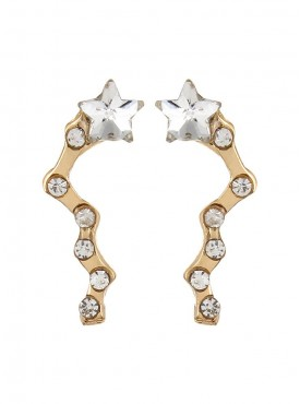 Fayon Daily Casual Work Tiny Crystals Constellations Golden Stud Earrings