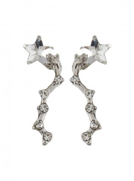 Fayon Funky Fashion Tiny Crystals Constellation Silver Stud Earrings