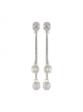 Fayon  Daily Casual Work Twin Pearl Tassels Dangler Earrings
