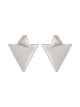 Fayon Chic Stylish Silver Triangle Stud Earrings