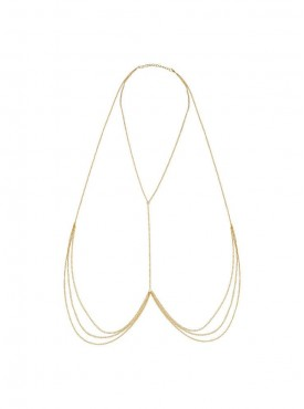 Fayon Contempory Statement Multi Layers Golden Body Chain