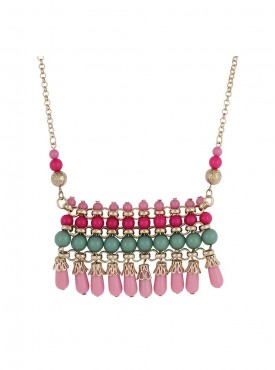 Fayon Daily Casual Work Multicoloured Beads Charm Necklace