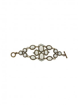 Fayon Weekend Casual Antique Silver and White Pearl Bracelet