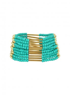 Fayon Party Style Diva Turquoise Beaded Shourouk Bracelet