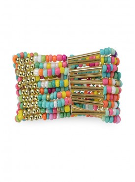Fayon Funky Fashion Multicolor Beaded Cuff Bracelet
