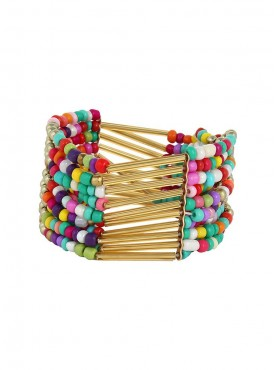 Fayon Daily Casual Work Multicolour Beads Cuff Bracelet