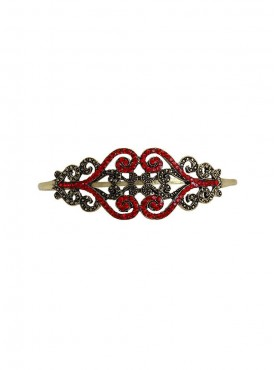 Fayon Fabulous Statement Red Rhinestone Palm Cuff