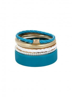 Fayon Funky Fashion Stylish Blue Graceful Bangle Set