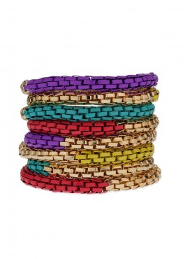 Fayon Daily Casual Work Multicolour Snake Coils Stretchable Bracelet
