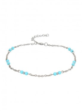 Fayon Funky Fashion Blue Beads Anklet