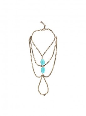 Fayon Funky Fashion Turquoise Beads Foot Chain