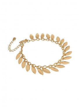 Fayon Chic Stylish Golden Leaves Anklet