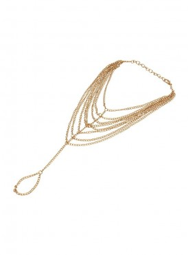 Fayon Fashion Statement Golden Multilayer Chains Anklet