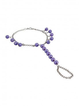 Fayon Funky Fashion Pretty Purple Beads  Foot Chain