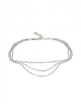 Fayon Trendy Costume Three Silver Layers Satellite Foot Chain (Single Piece)