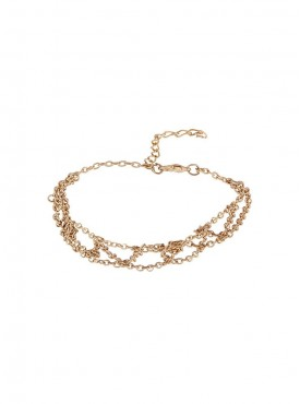 Fayon Party Style Diva Bohemian Bride Golden Anklet (Single Piece)
