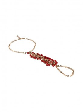 Fayon Party Style Diva Red Beads Hand Chain
