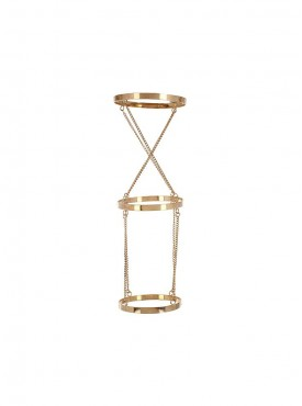 Fayon Contemporary Statement Golden Crises Cross Arm Chain