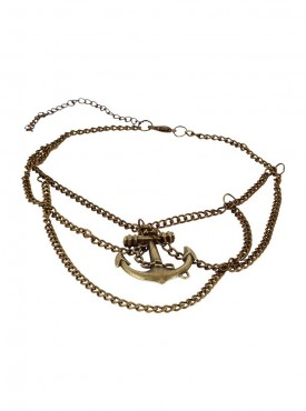 Fayon Chic Style Vintage Golden Anchor Arm Chain