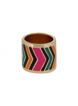 Fayon Fashion Statement Multicolour Enamel Ring