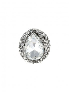 Fayon Fashion Statement White Gemstone Ring