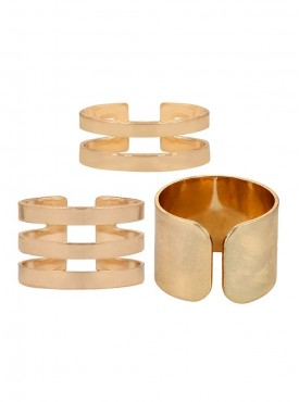 Fayon Weekend Party Golden Three Rings Set