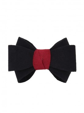 Fayon Party Style Diva Black Bow Rubber Band