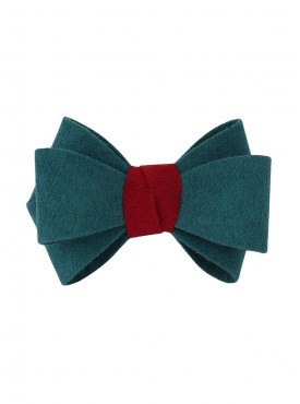 Fayon Chunky Fashion Green Bow Rubber Band