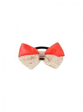 Fayon Daily Casual Work Orange Vintage Bow Design Rubber Band