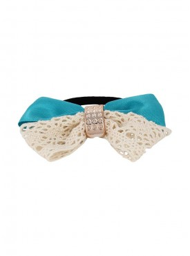 Fayon Chunky Fashion Light Blue Charming Bow Design Rubber Band